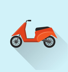 Flat style moto scooter icon vector