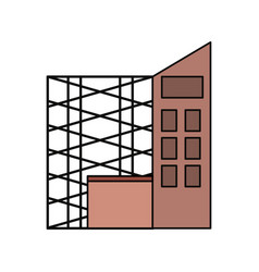 Scaffold and building vector