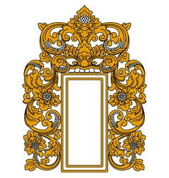 ethnic indonesian frame vector image