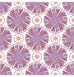 Abstract seamless pattern with striped circles vector