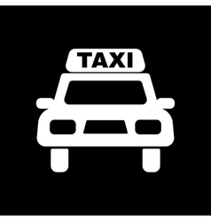 The taxi icon Taxicab symbol Flat vector image