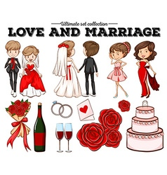 People in love and marriage vector