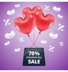 Three red balloons sale 70 vector