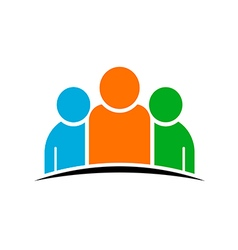 Three people team concept of group of people vector