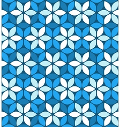 Abstract blue floral pattern vector image vector image