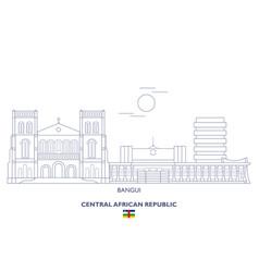 Bangui city skyline vector