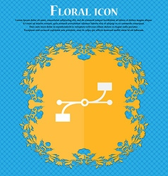 Bezier curve icon sign floral flat design on a vector
