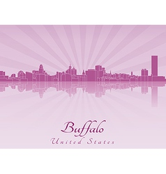 Buffalo skyline in purple radiant orchid vector