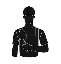 Builder masonprofessions single icon in black vector