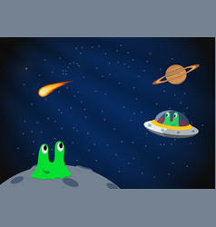 Cartoon space background vector image vector image