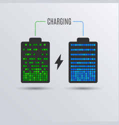 Cell phone or smartphone electric charge battery vector