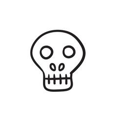 Computer security sketch icon vector
