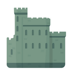 concrete castle with peaks in scotland vector image