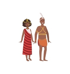 Couple in african national clothes vector