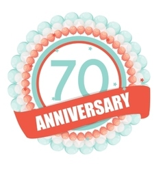 Cute Template 70 Years Anniversary with Balloons vector image vector image