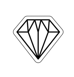 Diamond flat isolated icon vector