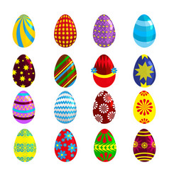 easter eggs for easter holidays design on white vector image vector image