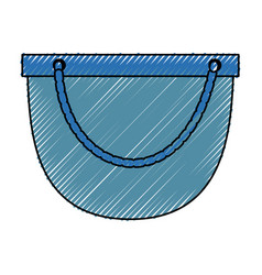 Ecologic bag isolated vector