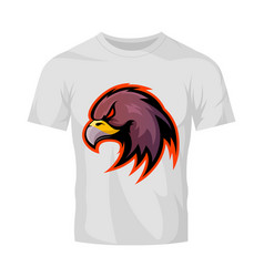 furious eagle head sport logo concept vector image vector image