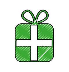 Giftbox present isolated icon vector
