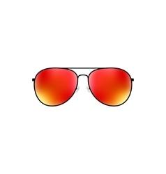 Glossy aviator sunglasses design vector image