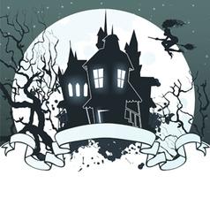 halloween ribbon dark back vector image