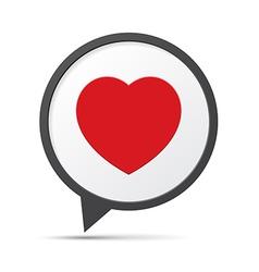 Heart symbol speech bubble vector
