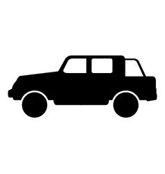 Icon jeep vector