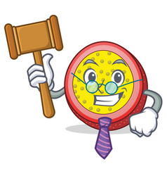 Judge passion fruit mascot cartoon vector