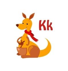 Kangaroo funny alphabet animal vector