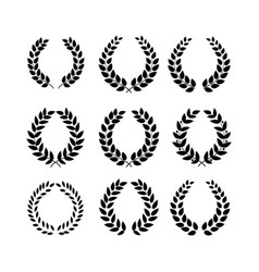 laurel wreath reward on white background vector image vector image