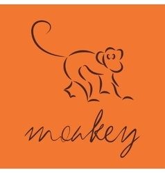 Logo of monkey vector