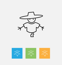 Of air symbol on scarecrow vector