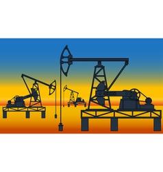 Oil pumpjack derricks vector