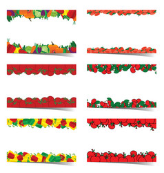 poster of food frame set vector image vector image
