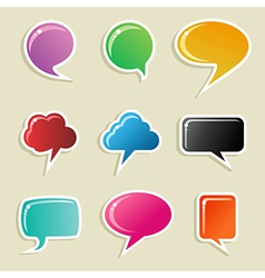 Social media bubbles set vector image vector image