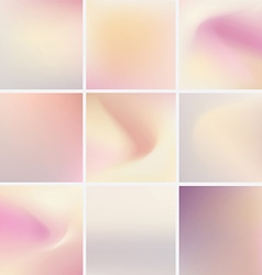 soft blurred abstract background set collection in vector image