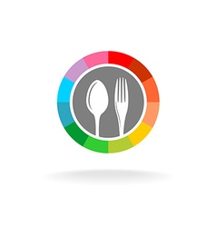 Spoon and fork logo vector image vector image