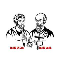 the saints apostles peter and paul vector image