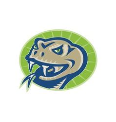 Viper snake serpent mascot head vector