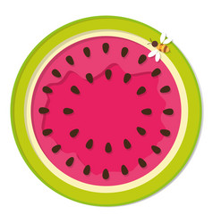 watermelon colorful icon isolated on white vector image vector image