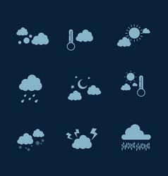 Weather icon set flat vector