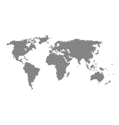 World map with Stars inside Stars cloud in world vector image vector image
