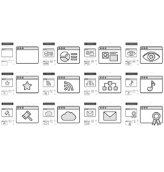 Application line icon set vector
