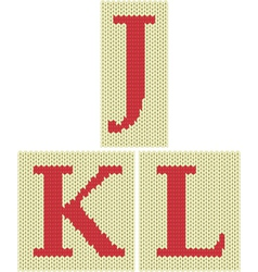 Knitted silhouette letters vector