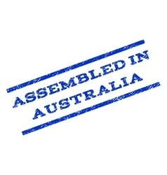 Assembled in australia watermark stamp vector