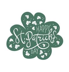 Happy saint patricks day logotype celebration vector