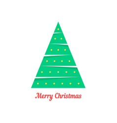 Merry christmas with abstract xmas tree vector