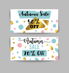 autumn sale banners and ads web template set vector image