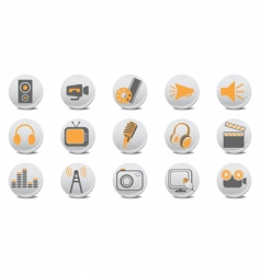 Video and audio buttons vector